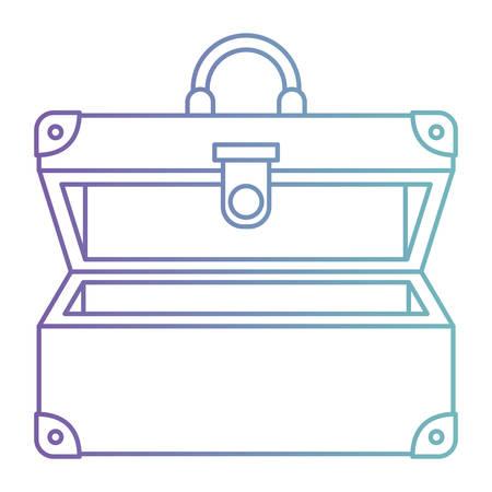 suitcase travel open isolated icon vector illustration design Illustration