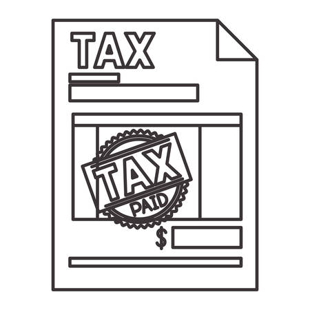 tax document paper icon vector illustration design Vektoros illusztráció
