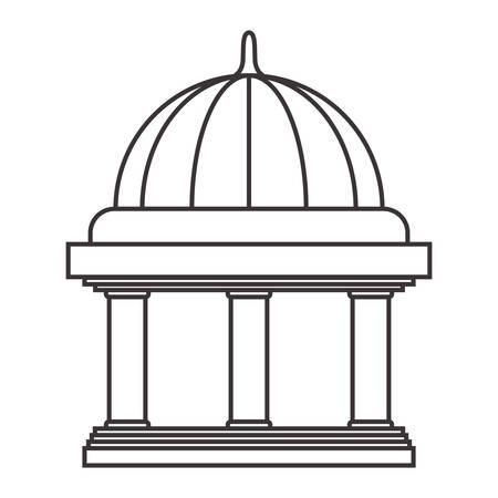 Edificio de banco aislado icono de ilustración vectorial de diseño