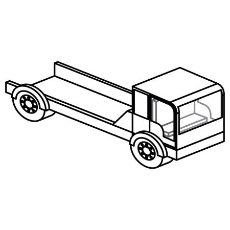 Truck icon. Under construction theme. Isolated design. Vector illustration