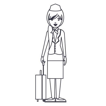 stewardess woman cartoon icon. Avatar people person and human theme. Isolated design. Vector illustration