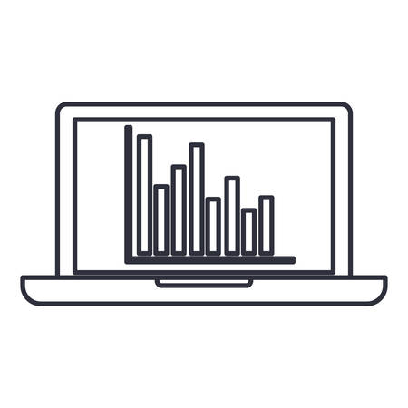 Infographic and laptop icon. Information business and analytics theme. Isolated design. Vector illustration