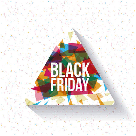 Black Friday icon. ecommerce sale decoration and advertising theme. Colorful design. Vector illustration Illustration
