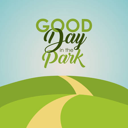landscape icon. Good day in the park theme. Colorful design. Vector illustration