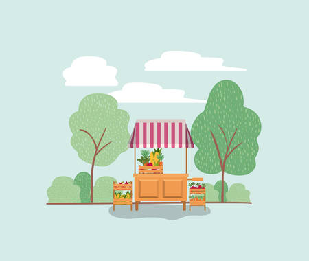 plants vivarium in kiosk vector illustration design 矢量图像