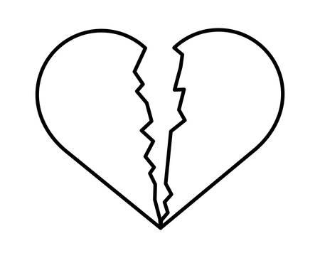 heart break isolated icon vector illustration design