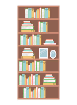 library shelving isolated icon vector illustration design