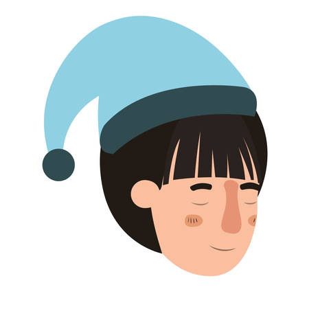 head of woman sleeping avatar character vector illustration desing