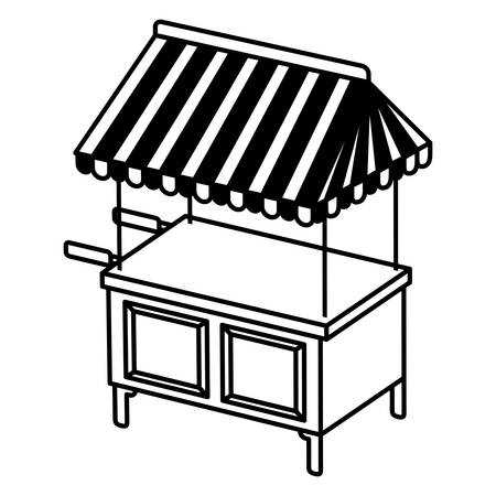 store kiosk isolated icon vector illustration desing