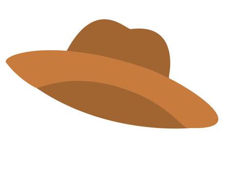 cute farmer hat isolated icon vector illustration desing Vettoriali