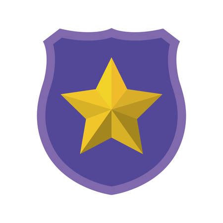 shield with star isolated icons vector illustration design Vetores