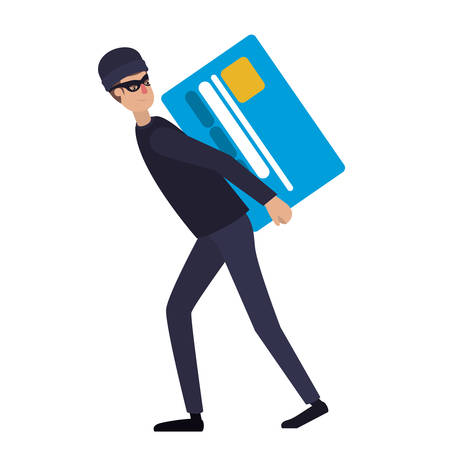 man stealing information avatar character man stealing information Stock Illustratie