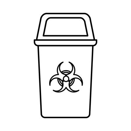 recycling basket isolated icon vector illustration design