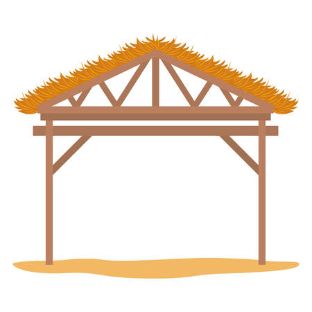 wooden stable manger icon vector illustration design Stock Illustratie