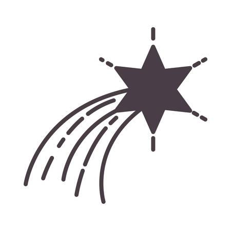 decorative star isolated icon vector illustration design Vettoriali
