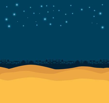 desert night manger scene background vector illustration design Illustration