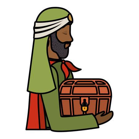 Wise man manger character. Vector illustration design