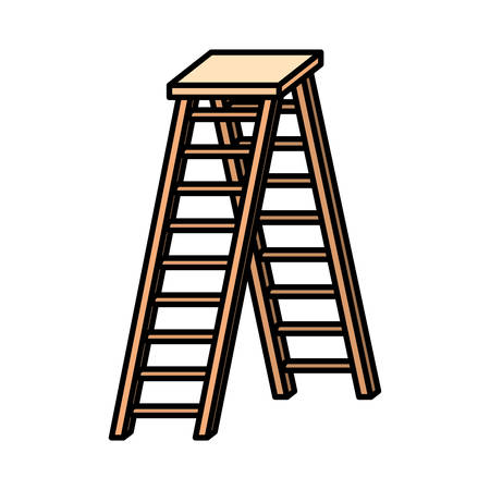 wooden stair isolated icon vector illustration design Stock Illustratie