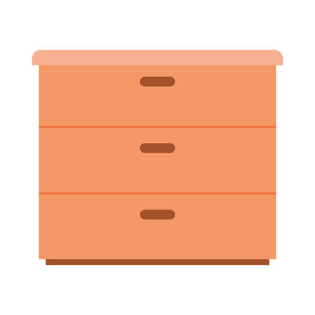 wooden drawer isolated icon vector illustration desing