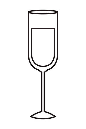 glass of wine isolated icon vector illustration design