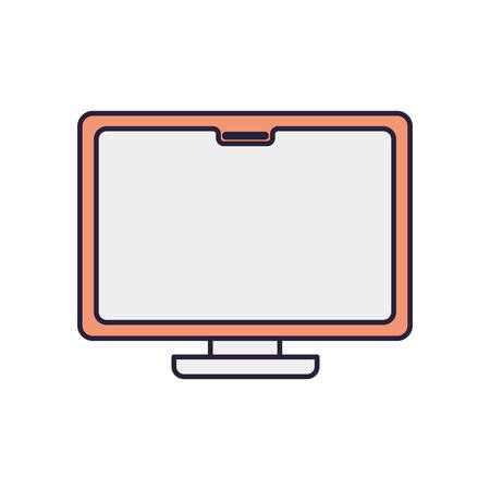 computer desktop isolated icon vector illustration design 向量圖像