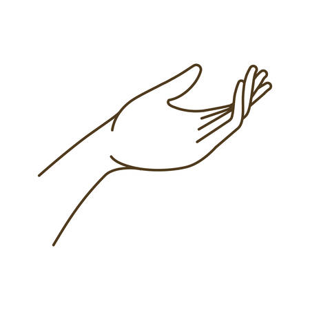 Avant-bras avec la conception d'illustration vectorielle de caractère avatar main ouverte