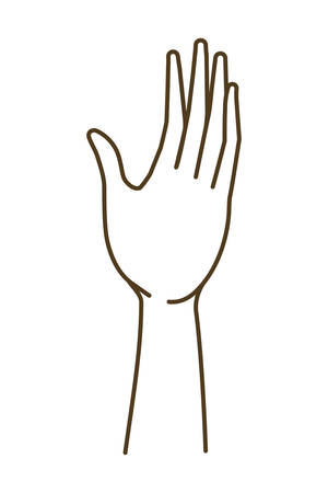 forearm with open hand avatar character vector illustration design