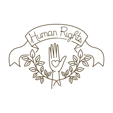 open hands with human rights with heart avatar character vector illustration design Banque d'images - 127692250