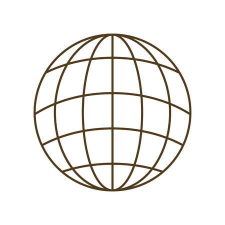 earth globe with parallels and meridians isolated icon vector illustration design Ilustração Vetorial