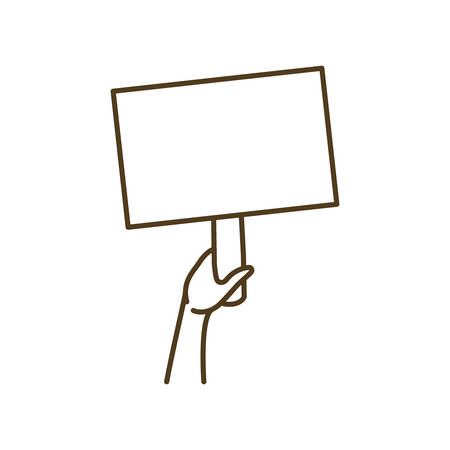 hands with protest sign isolated icon vector illustration design