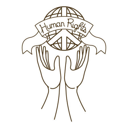 Open hands with human rights symbol vector illustration desing Banque d'images - 127692333