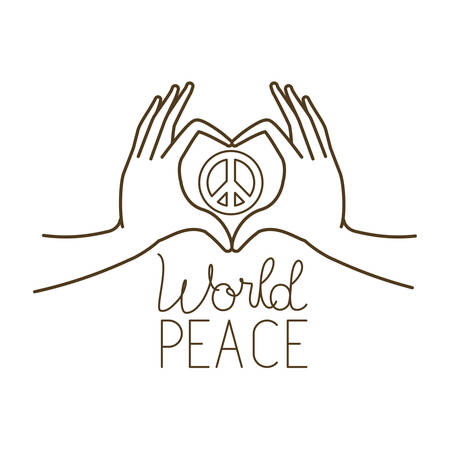 hands forming a heart symbol and symbol of love and peace vector illustration design Vektorové ilustrace