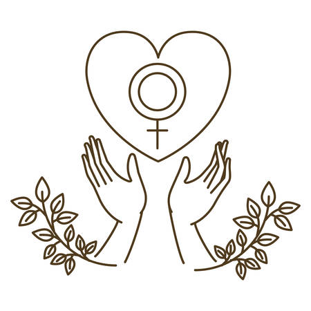 women symbol with hands avatar character vector illustration design 일러스트