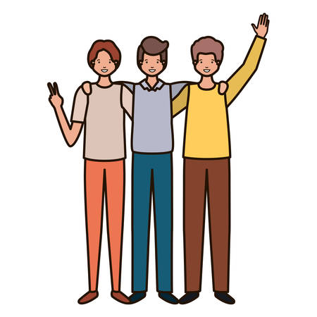 young men avatar character vector illustration desing Illustration