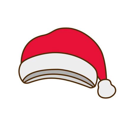 santa's hat isolated icon vector illustration deisgn Archivio Fotografico - 127379383