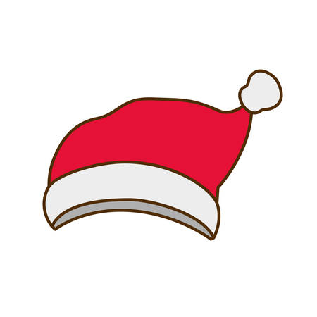 santa's hat isolated icon vector illustration deisgn Archivio Fotografico - 127379384
