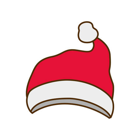 cappello di babbo natale icona isolata illustrazione vettoriale deisgn Vettoriali