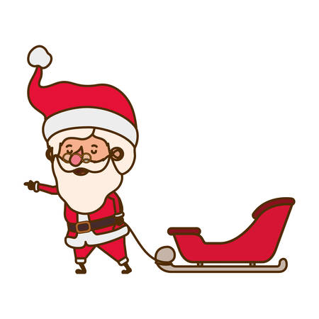 santa claus on sleigh avatar character vector illustration design Illustration