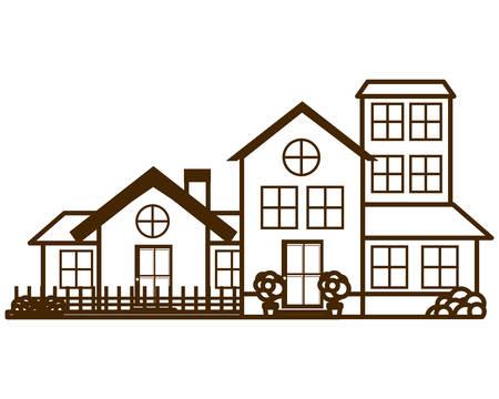 neighborhood isolated icon vector illustration design Иллюстрация