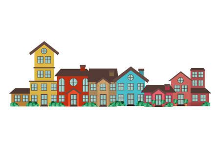 neighborhood isolated icon vector illustration design Illusztráció