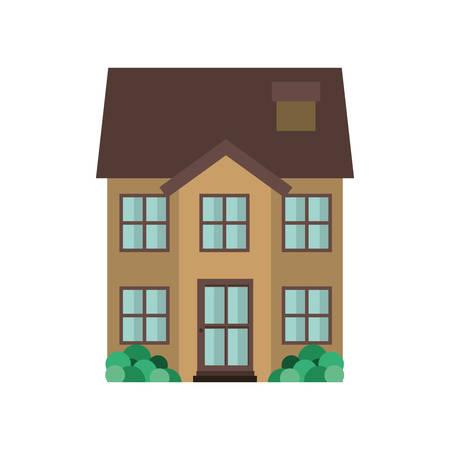 house with garden isolated icon vector illustration design Stock Illustratie