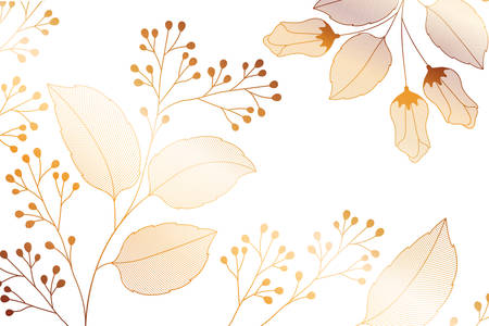 flowers with branches and leaves isolated icon vector illustration design