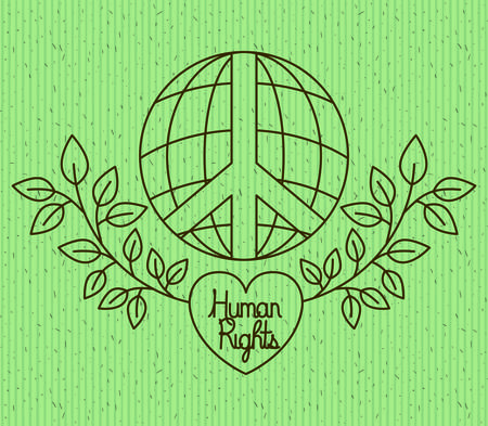Heart With Wreath Human Rights Drawns Vector Illustration Design