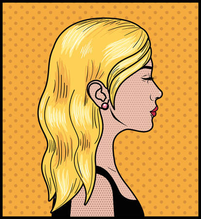 blond woman pop art style vector illustration design Ilustrace