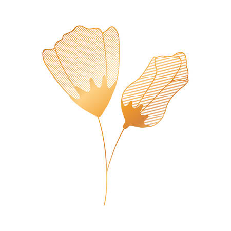 flower with sepal isolated icon vector illustration desing Illustration