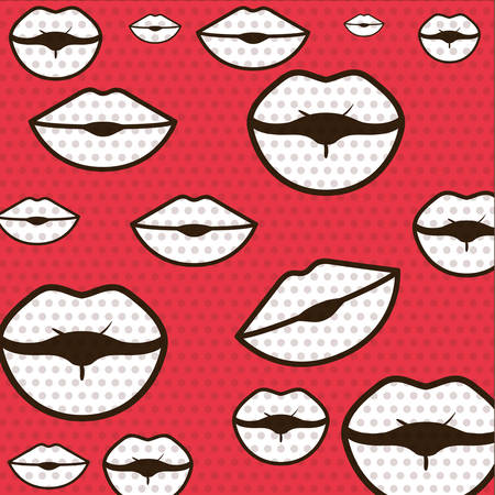closed mouth pattern isolated icon