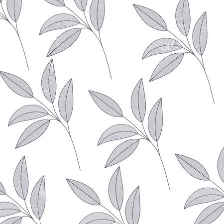 leafs pattern isolated icon vector illustration design Vecteurs