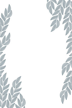 branch with leaves isolated icon vector illustration desing Illustration