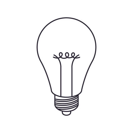 light bulb off isolated icon vector illustration design