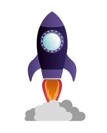 flying rocket isolated icon vector illustration design Иллюстрация